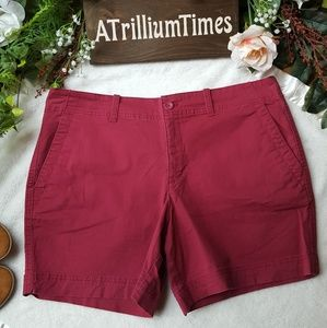 Eddie Bauer womens red shorts